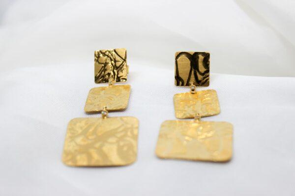 Brincos Prata Dourada